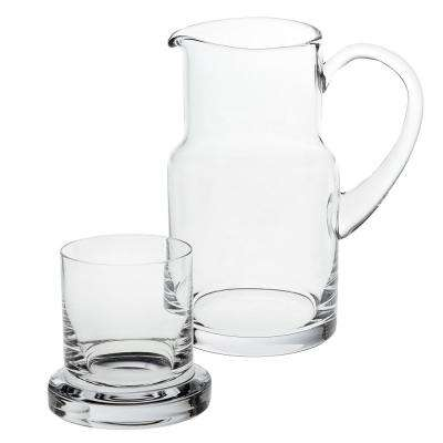 Manhattan 8 in. H Mouth Blown 2-Piece Bedside or Desktop Carafe Set