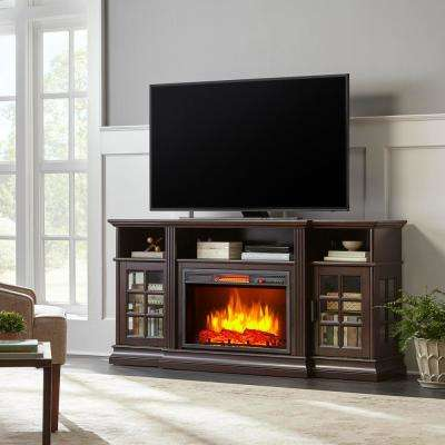 Archfield 65 in. Freestanding Infrared Electric Fireplace TV Stand in Espresso