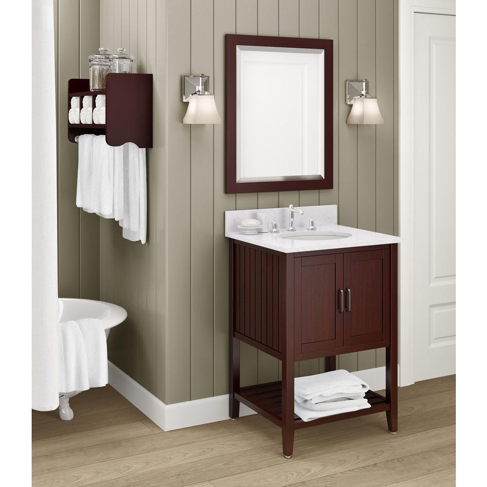 Foremost naples 25 in w x 22 in d vanity in warm for J furniture amory ms
