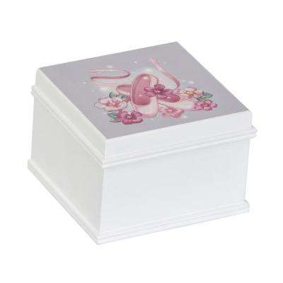 Surrey Girl's White Wooden Musical Ballerina Jewelry Box