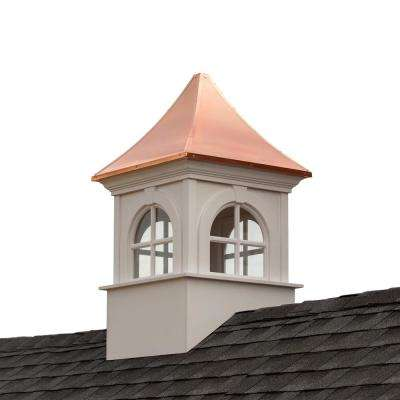 Smithsonian Fairfax 30 in. x 51 in. Vinyl Cupola with Copper Roof