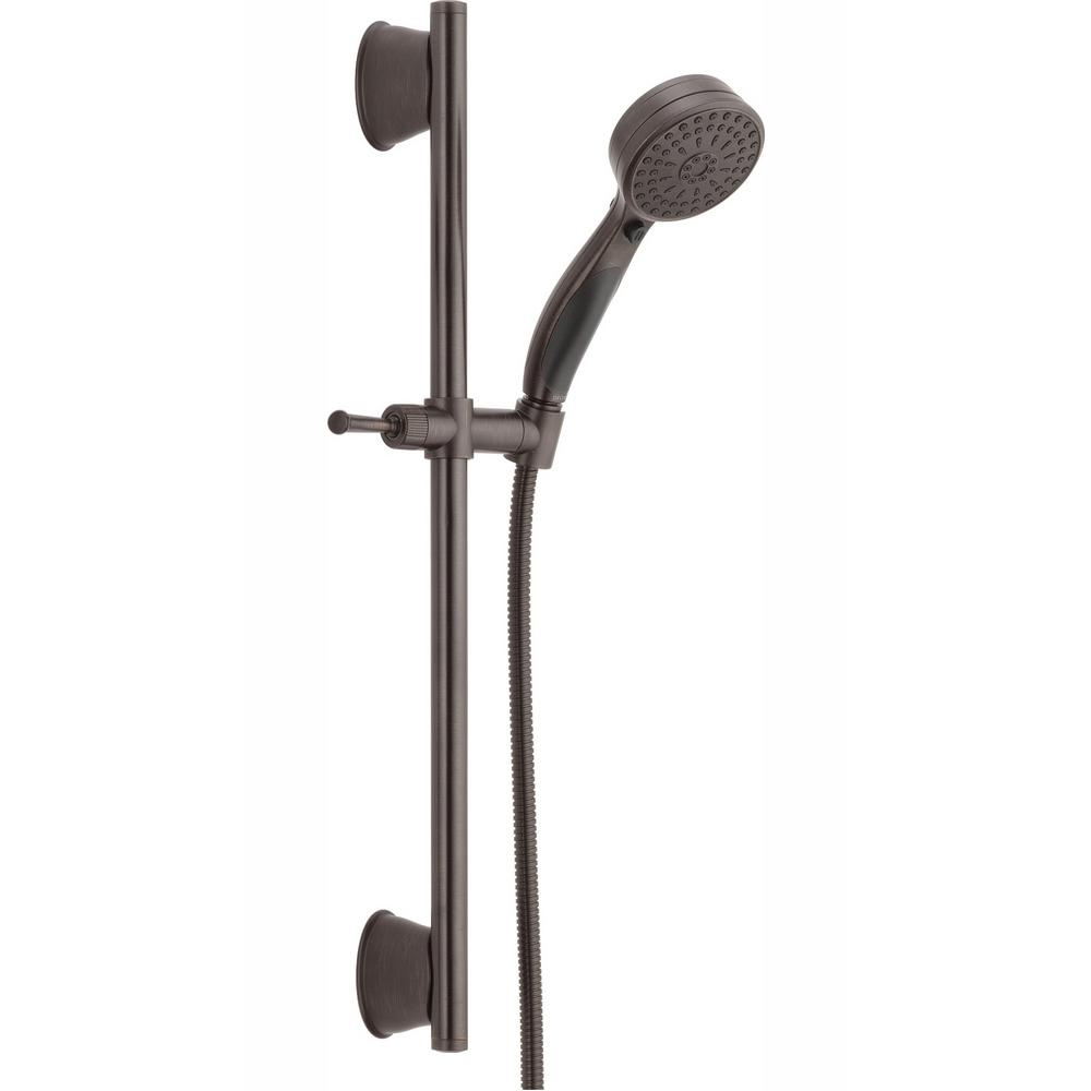 Delta ActivTouch 9-Spray Handheld Showerhead with Slide Bar and Pause in Venetian Bronze