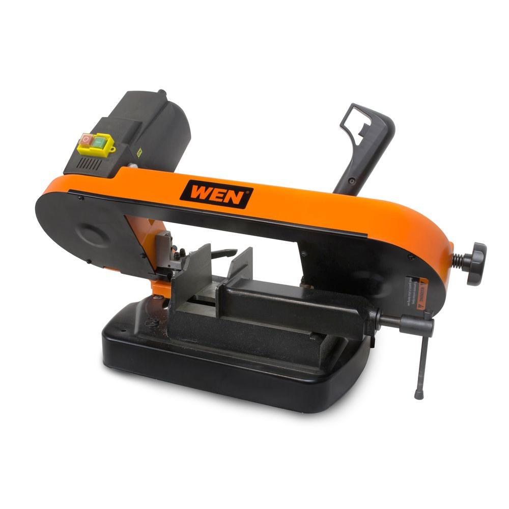Wen 5 In Metal Cutting Benchtop Band Saw 3975 The Home Depot