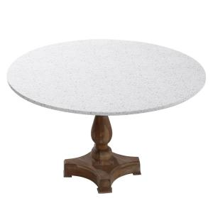 48'' Cotton Fabric Fitted Table Cover, Tan Terazzo