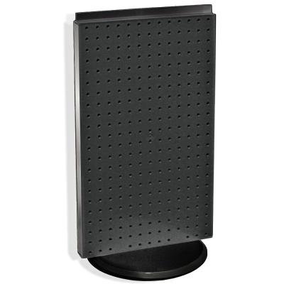 22 in. H x 13.5 in. W Counter top Pegboard Display in Black Styrene