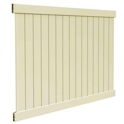 Bryce 6 ft. H x 8 ft. W Sand Vinyl Un-Assembled Fence Panel
