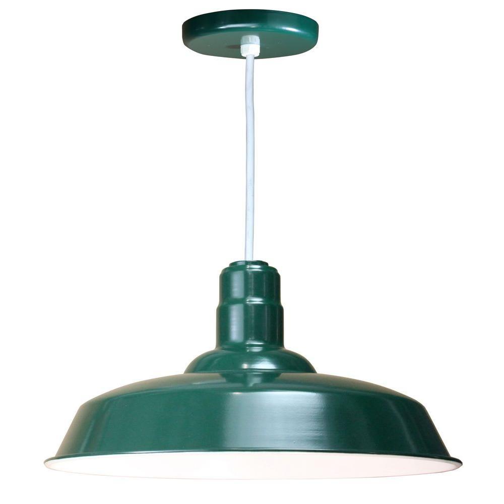 1-Light Green Pendant