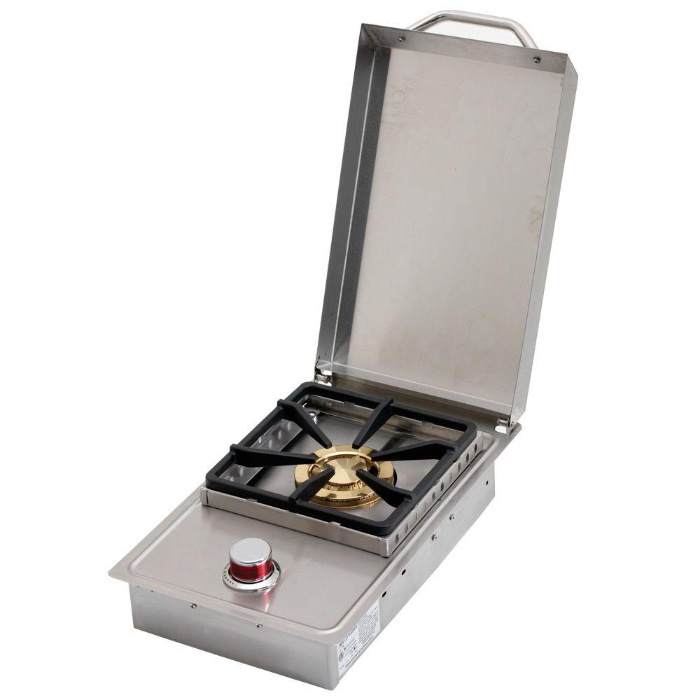 Cal Flame Stainless Steel Built-In Dual Fuel Gas Single Side Burner ...