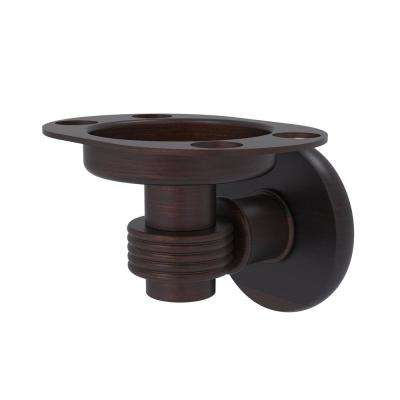 Continental Collection Tumbler and Toothbrush Holder with Groovy Accents in Venetian Bronze