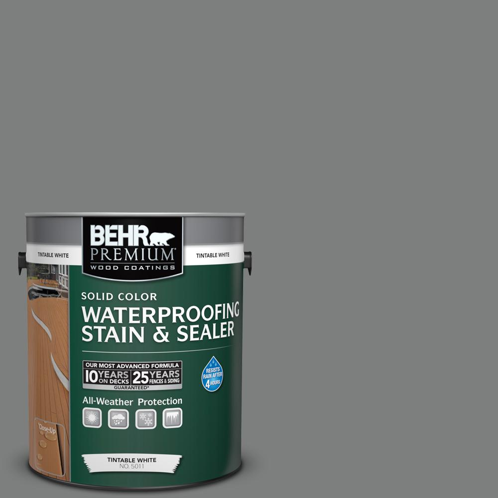 1 gal. #6695 Slate Gray Solid Waterproofing Stain and Sealer