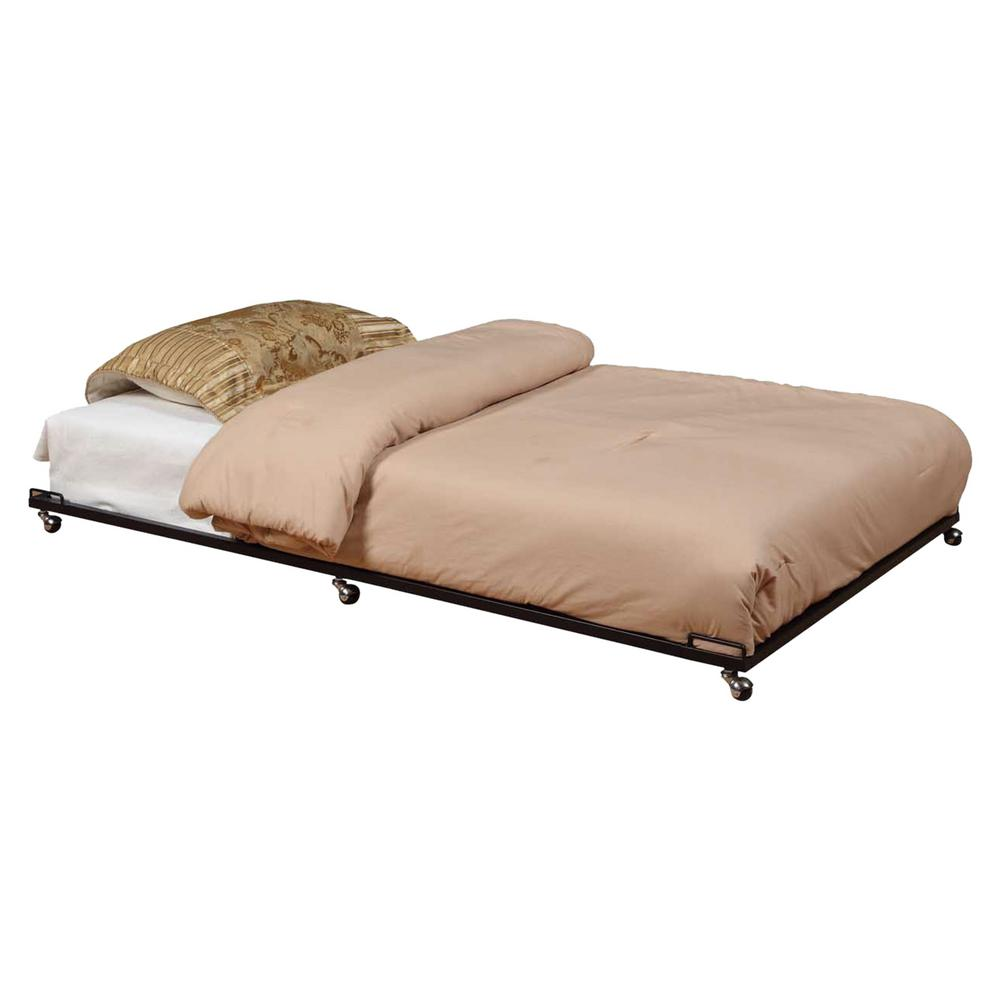 Kings Black Metal Twin Size Trundle Bed Frame for Daybed