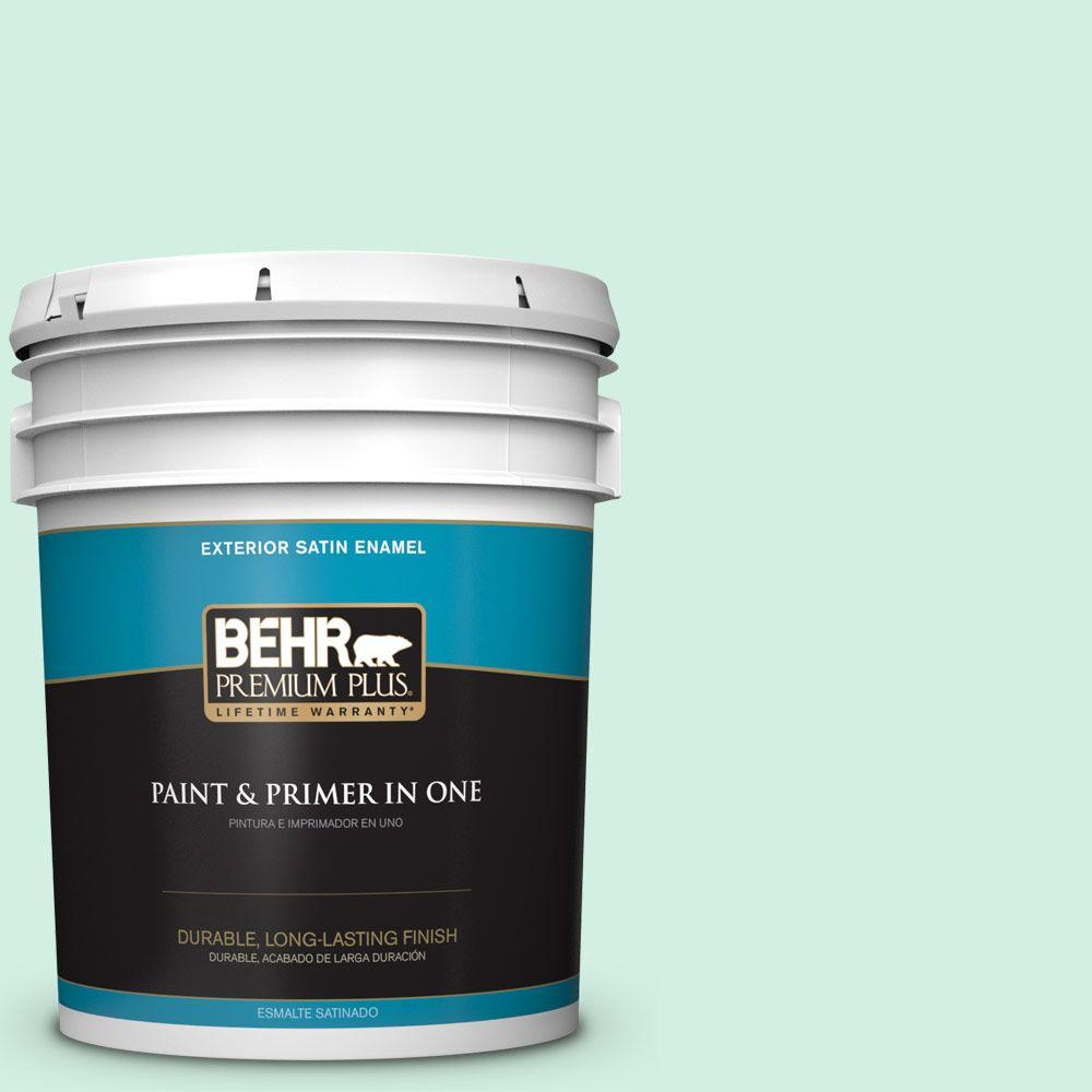 5-gal. #P420-1 Spring Frost Satin Enamel Exterior Paint