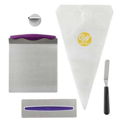 Cake Decorating Kit for Beginners with Lifter, Spatula, Icing Tip/Smoother and Disposable Decorating Bags