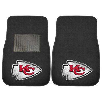 NFL - Kansas City Chiefs 17 in. x 25.5 in. 2-Piece Set of Embroidered Car Mat