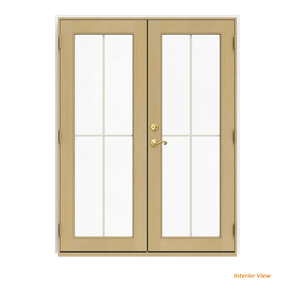 60 in. x 80 in. W-2500 White Clad Wood Left-Hand 4