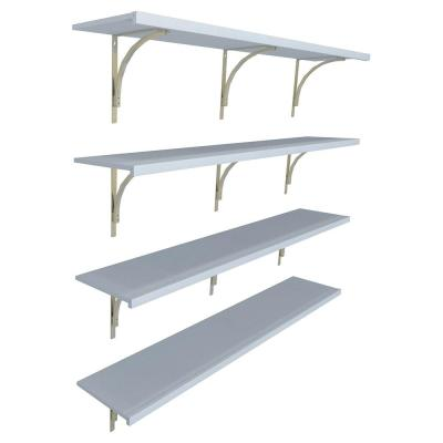 6 in. D x 12 in. W x 84 in. H White Wood Wall Mount Closet System