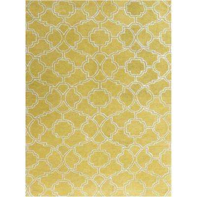 Caitlin Yellow 5 ft. x 8 ft. Rectangle Area Rug