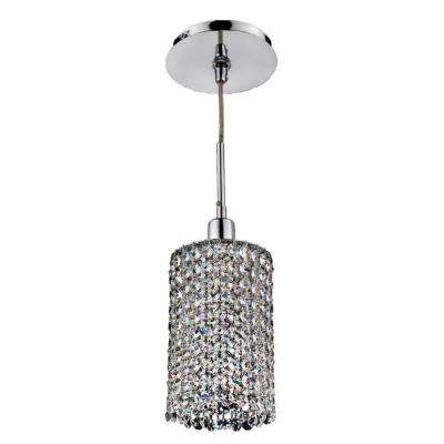 Fuzion X 1-Light Round 2 Layer Crystal and Chrome Mini Pendant