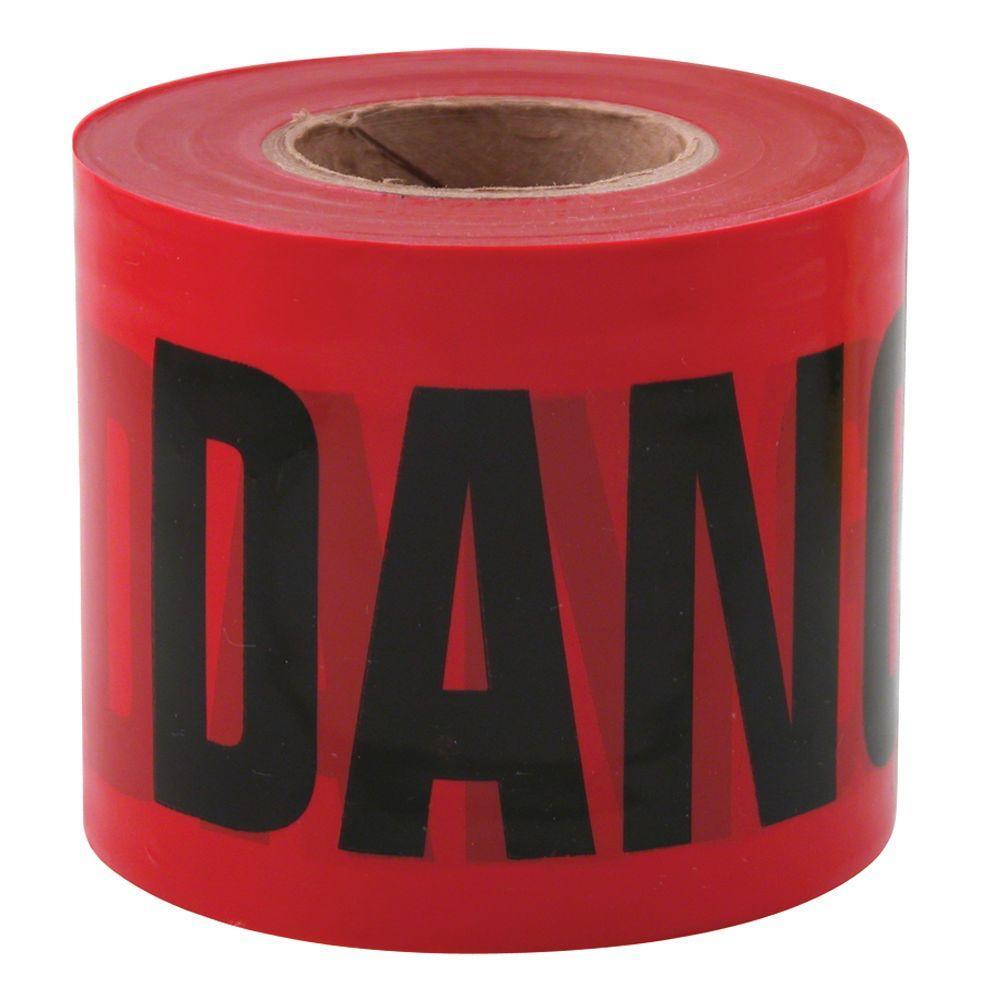 3 in. x 200 ft. Danger Tape in Red