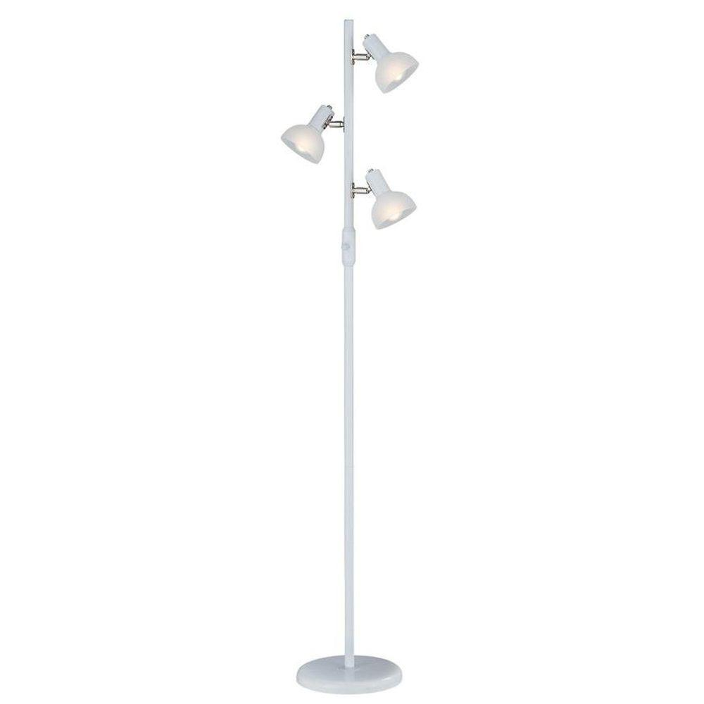 Illumine 3-Light Floor Lamp Frost Glass Shade White Finish-DISCONTINUED