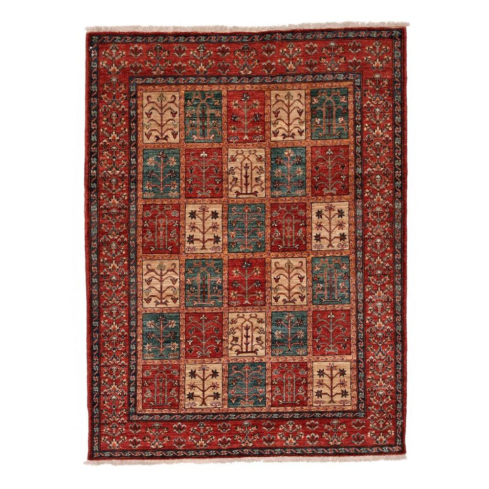 Darya Rugs Traditional Red 5 ft. 2 in. x 6 ft. 10 in. Indoor Area Rug