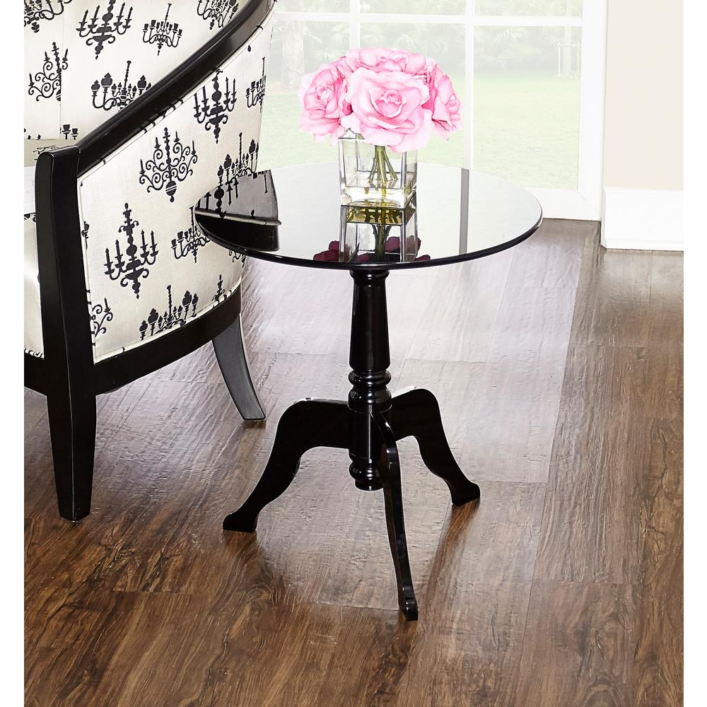 Black Acrylic Zella Accent Table: Black Acrylic End Table-65037BLACR01U