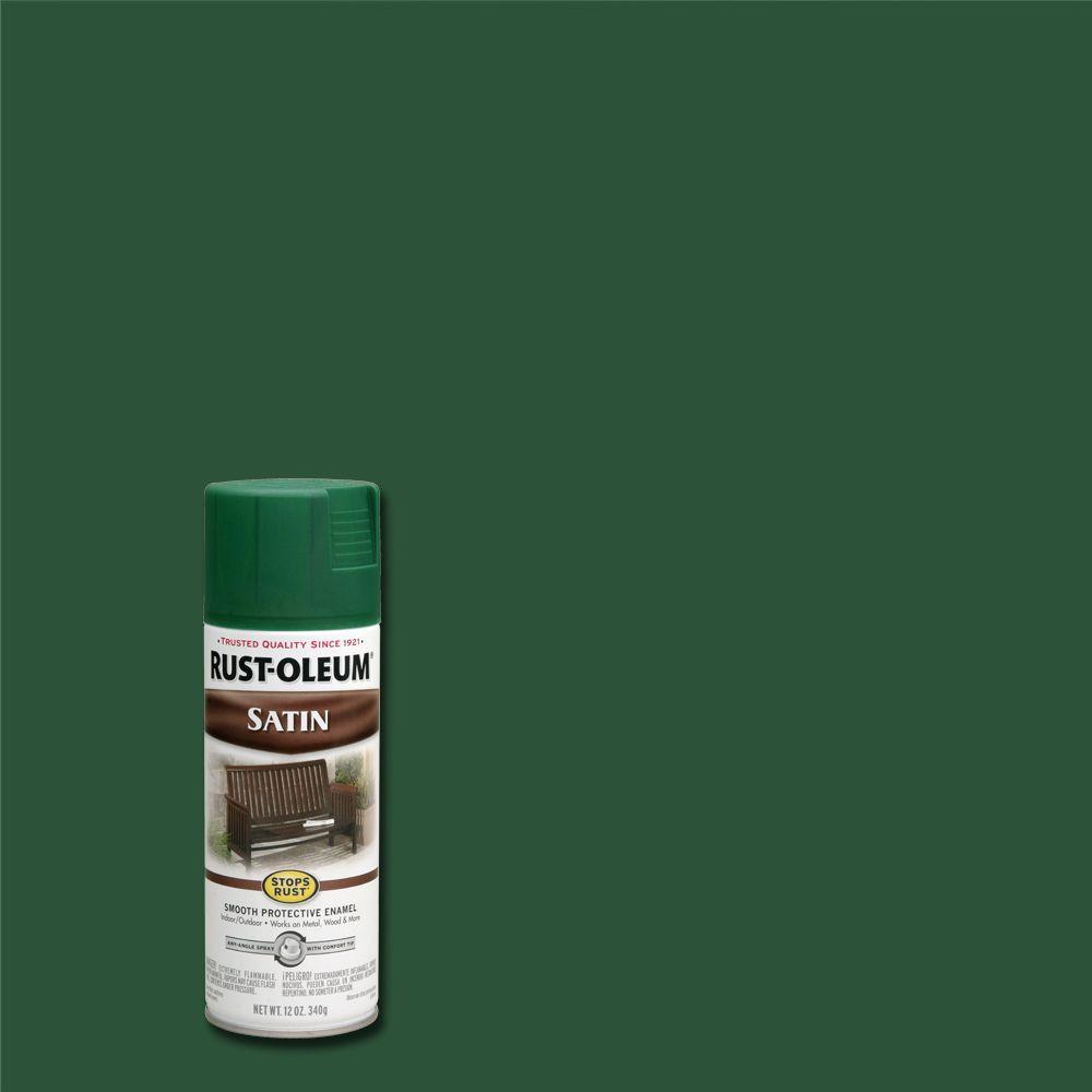Rust-Oleum Stops Rust 12 oz. Protective Enamel Satin Hunter Green Spray Paint