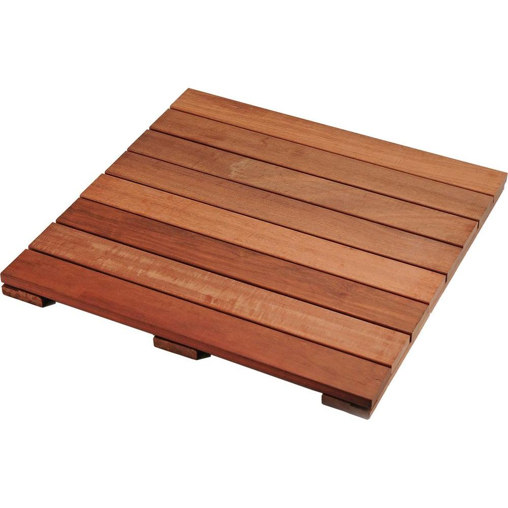 n/a 2 ft. x 2 ft. Abaco Tropical Hardwood Deck Tile