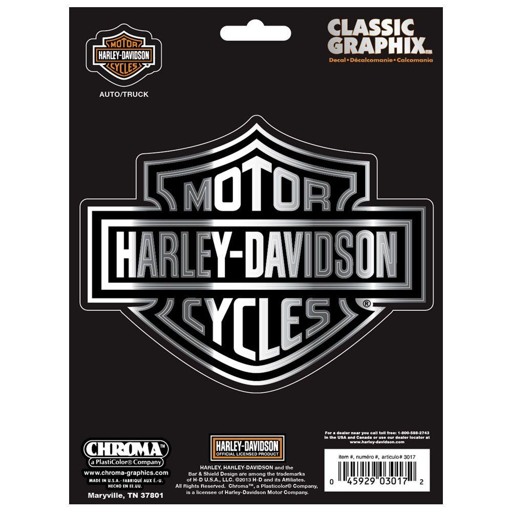 Harley davidson classic emblem decal logo for truck