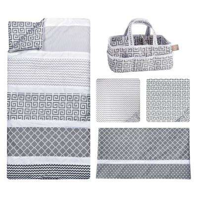 Ombre Gray 5-Piece Bedding Set