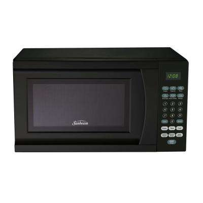 0.7 cu. ft. 700-Watt Countertop Microwave in Black
