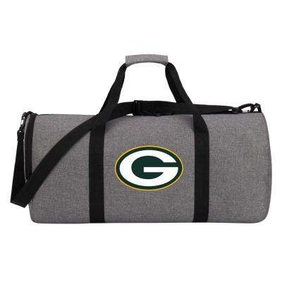 Packers Wingman 10 in. Heathered Gray Duffle Bag