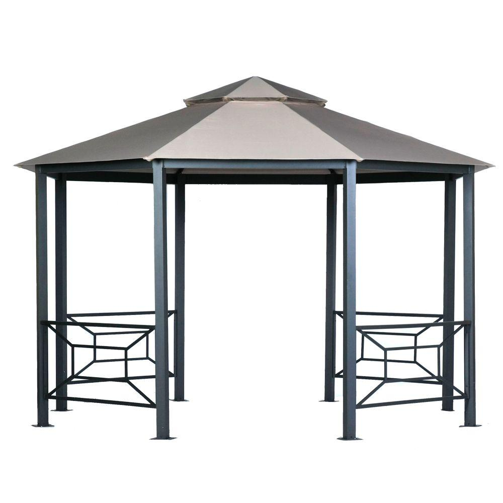 null 13 ft. x 9.75 ft. Octagonal Shaped Canopy