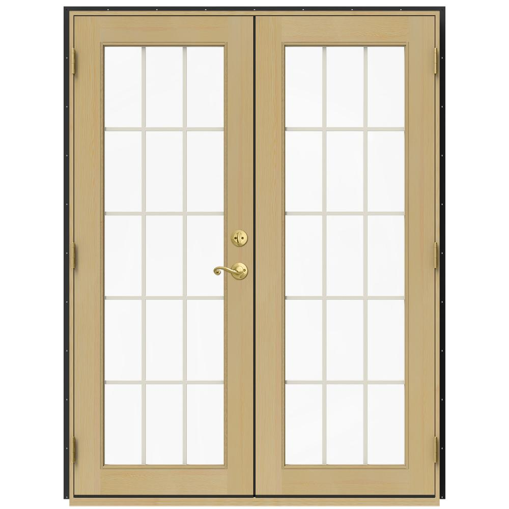 French Doors Product : Jeld wen in w chestnut bronze right