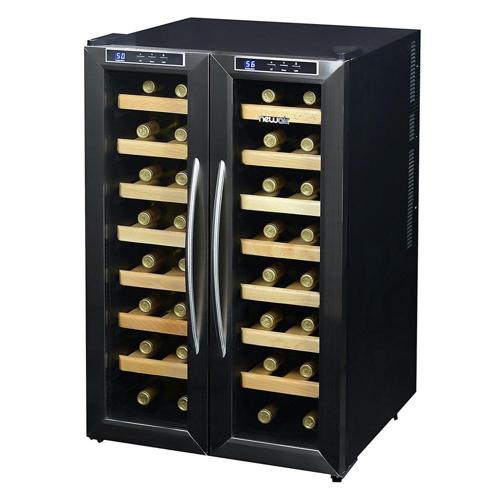 NewAir 32-Bottle Dual-Zone Freestanding Wine Cooler