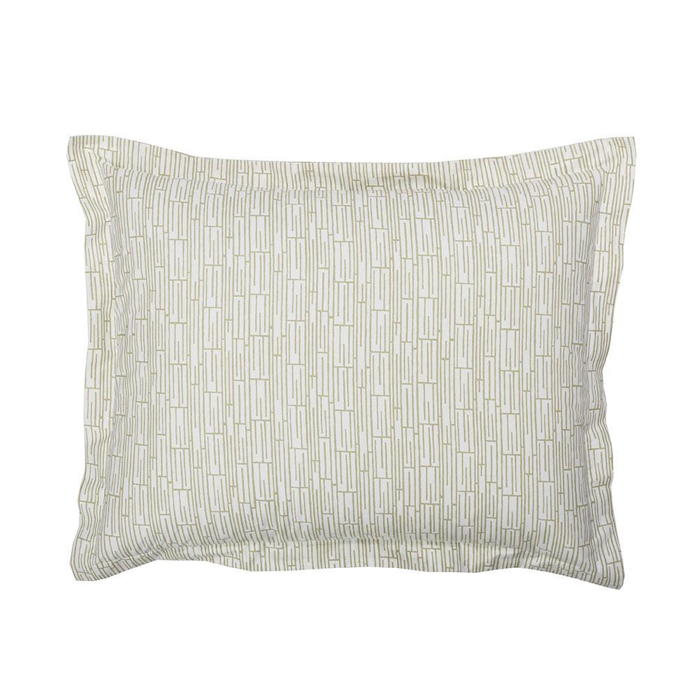 Bamboo Taupe Organic Cotton Percale Standard Sham