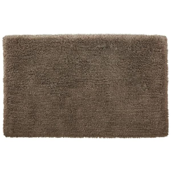 Fawn Brown 19 in. x 34 in. Non-Skid Cotton Bath Rug