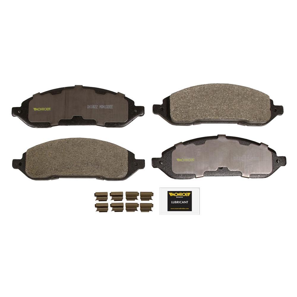 Monroe Brakes Total Solution Ceramic Brake Pads 2004 2007 Ford Freestar 3 9l 4 2l