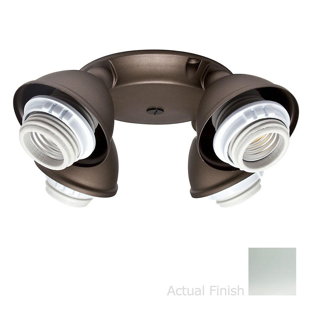 Casablanca 4-Light Chrome Integrated Socket-Ring Fitter Light Kit-DISCONTINUED