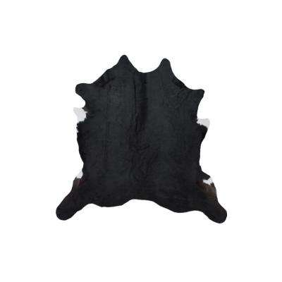Cowhide Magali Black 4 ft. 6 in. x 6 ft. Area Rug