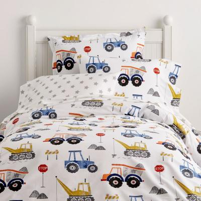 Construction Zone 200-Thread Count Cotton Percale Duvet Cover