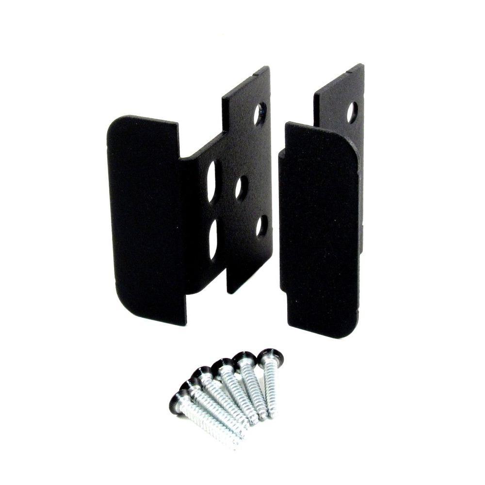Black Heavy Metal Locking Jamb Handle