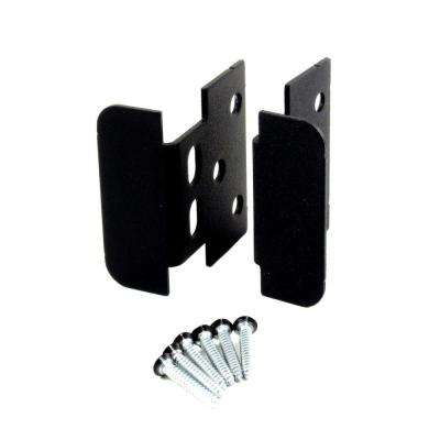 Black Heavy Metal Locking Jamb Handle