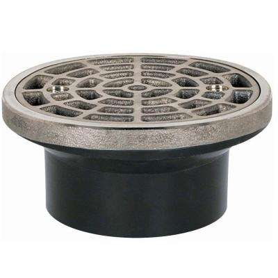 2 in. ABS Round-Head General Purpose Drain in Nickel Bronze