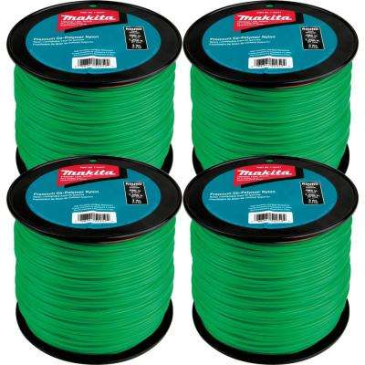 3 lbs. 0.080 in. x 1,200 ft. Round Trimmer Line in Green (4-Pack)