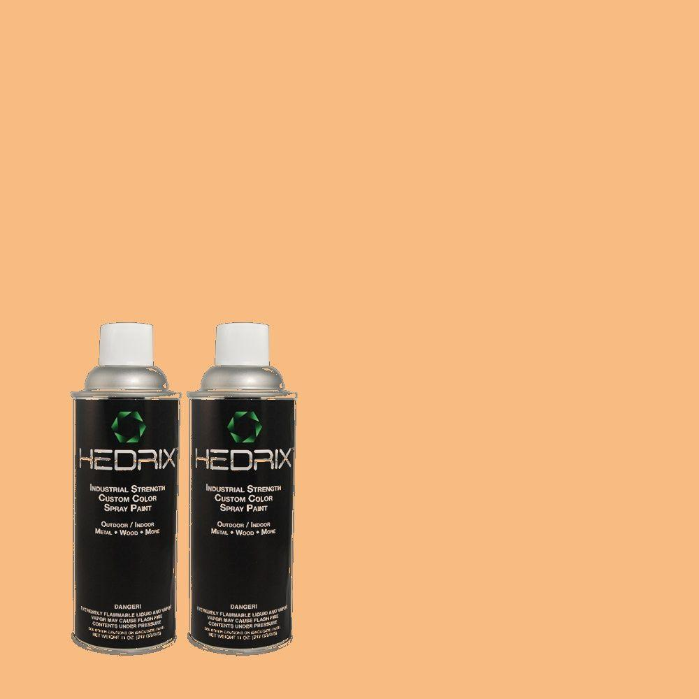 Hedrix 11 oz. Match of 260C-3 Fresh Peaches Flat Custom Spray Paint (2-Pack)