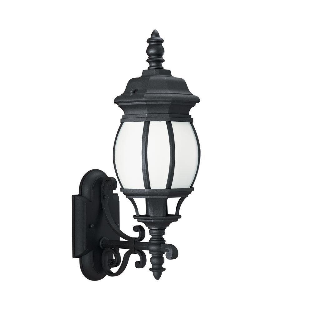 Weston Wy Steel Buildings Reviews 2: Sea Gull Lighting Wynfield Medium 1-Light Black Outdoor 19