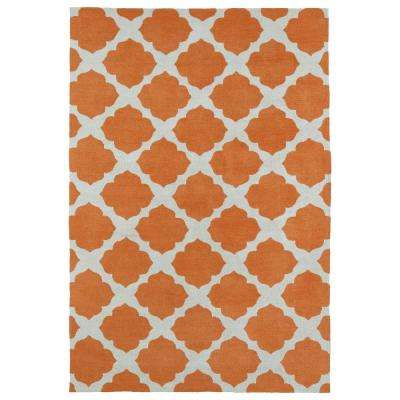 Lily and Liam Orange 4 ft. x 6 ft. Area Rug