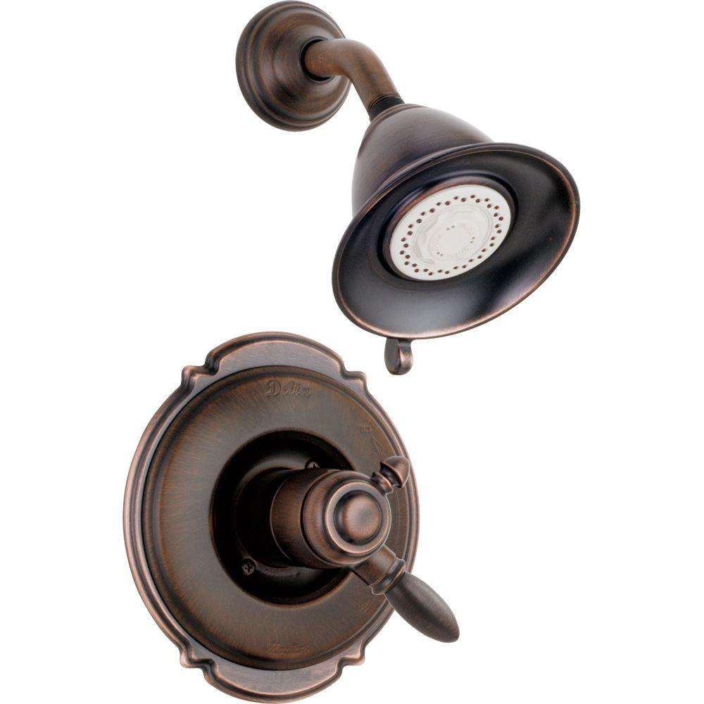 Delta Victorian 1 Handle Shower Only Faucet Trim Kit In Venetian Bronze Valve Not