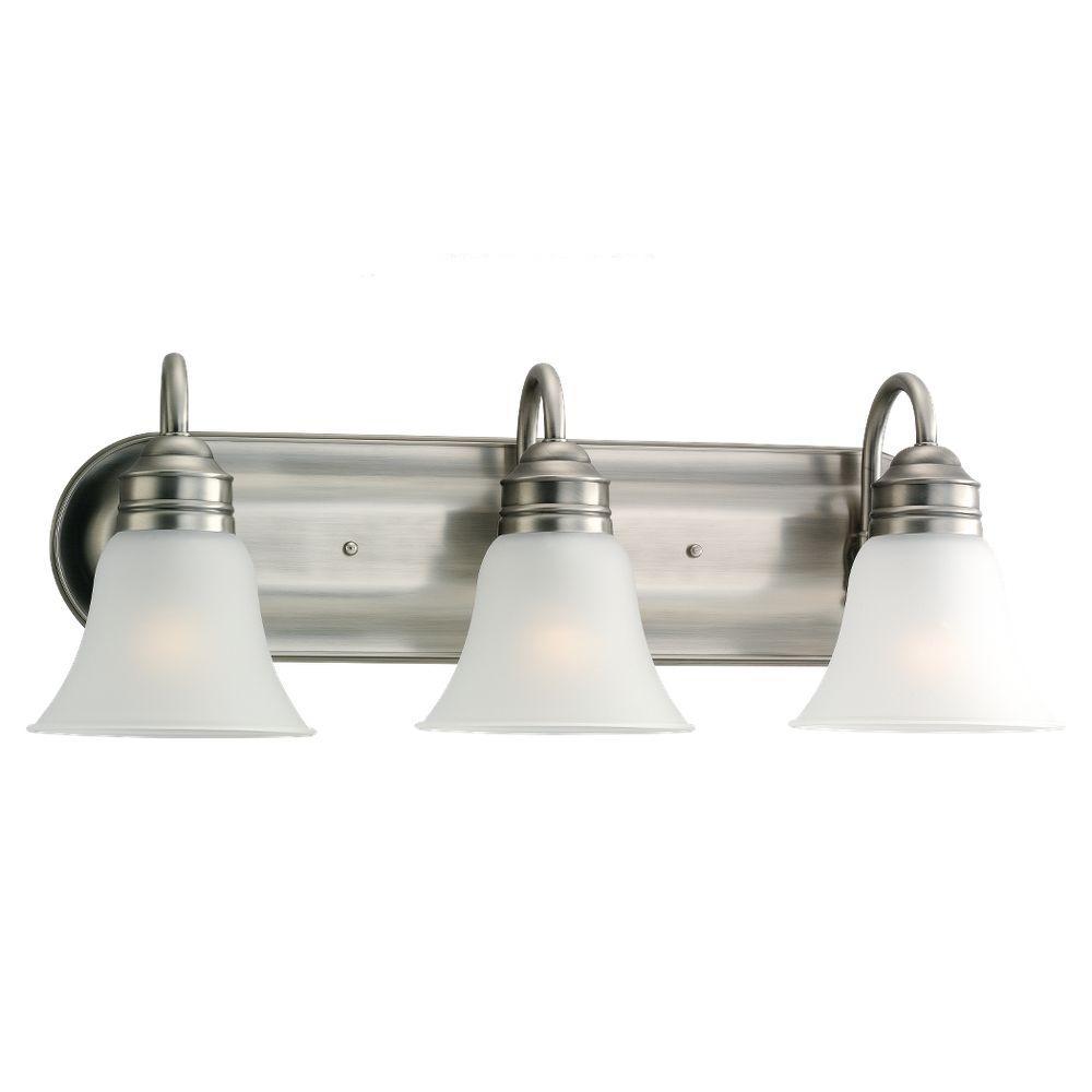 Sea Gull Lighting Gladstone 5 Light Antique Brushed Nickel: Sea Gull Lighting Center Stage 4-Light Brushed Stainless